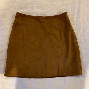 $218 Reformation Spence Skirt Mini Camel Suede 0